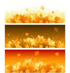 decorative swirling autumn design vector image