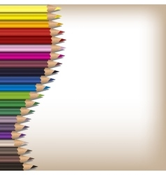 Realistic color pencils set vector
