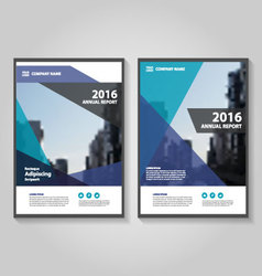 Colorful abstract annual report leaflet set vector