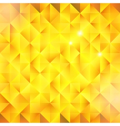 Abstract golden triangular background vector image vector image