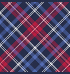 Blue diagonal fabric texture plaid seamless vector