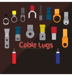 Cable lugs vector