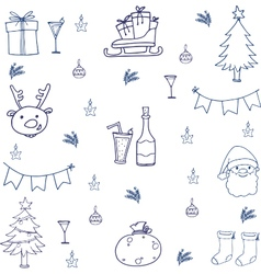 christmas set doodles vector image vector image