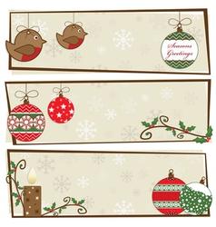 christmas snowflake banners vector image vector image