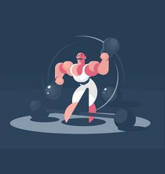 circus athlete strongman vector image