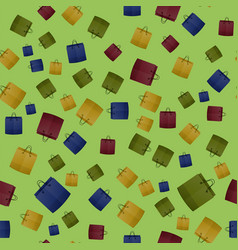 colorful shopping paper bag seamless pattern vector image vector image