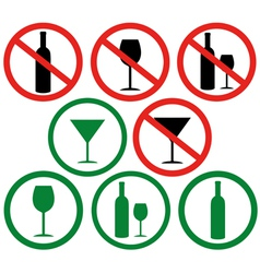 Dont drink vector image
