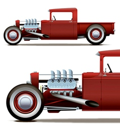 hot rod truck vector image