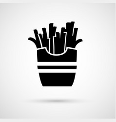 Icon appetizing tasty french fries vector