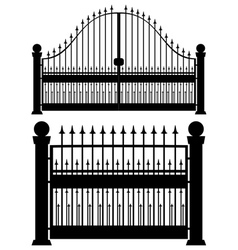 Iron gate silhouette vector