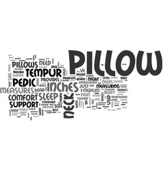 Is your pillow a pain in the neck text background vector