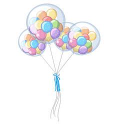 little balloons in four big ones vector image vector image