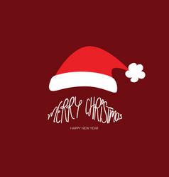 Merry christmas santa clause beard typography vector