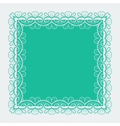 Ornamental lace square border vector
