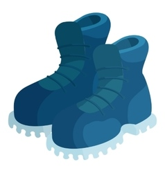 Pair of blue boots icon cartoon style vector