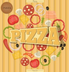 pizza end vector image