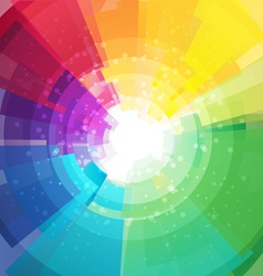 Rainbow bright background with rays4 vector image vector image