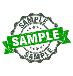 sample stamp sign seal vector image vector image