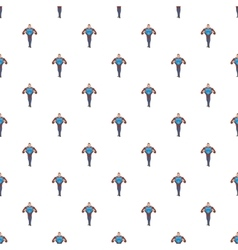 Superhero in costumes pattern cartoon style vector