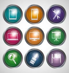 Technology icon design vector