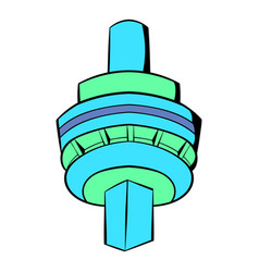 The cn tower in toronto icon cartoon vector