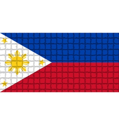 The mosaic flag of philippines vector