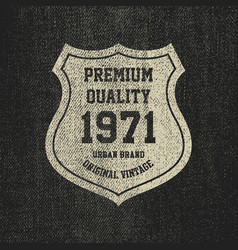 vintage denim typography grunge t-shirt graphics vector image vector image