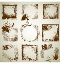 vintage grunge frames vector image vector image
