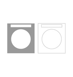 Washing machine set icon vector