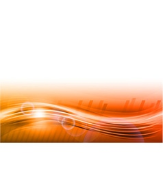 wave abstract orange vector image vector image