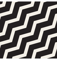 Seamless black and white zigzag diagonal vector