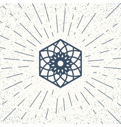 Asian hexagon symbol vector image