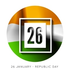Indian republic day background with flag vector