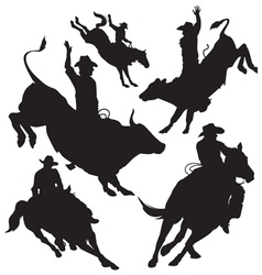 Rodeo silhouette vector