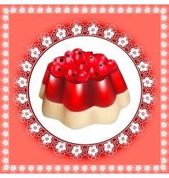 background with fruit jelly dessert vector image