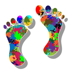 Colorful feet vector