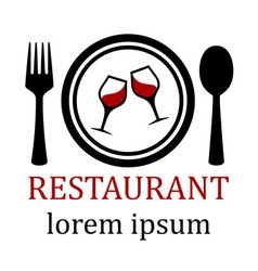 Restaurant menu symbol vector