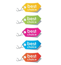 price tags vector vector image