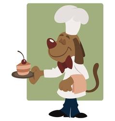 elegant dog waiter vector image