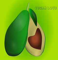 Avocado love vector