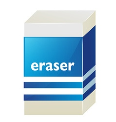 Eraser with blue label vector