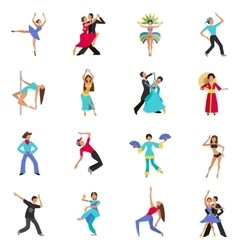 Dance icon flat vector