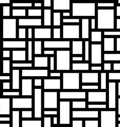 Abstract geometric seamless pattern White vector image vector image