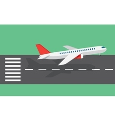 airplane taking off from the runway vector image vector image