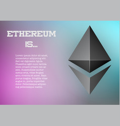 Background of ethereum information vector