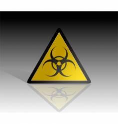biohazard warning vector image vector image