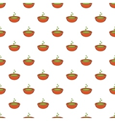 Bowl with green potion pattern cartoon style vector
