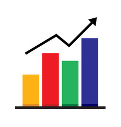 Business market chart graphic vector