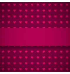 Dark red background with hearts vector image