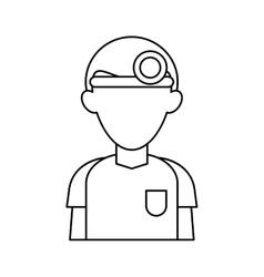 Doctor with head mirror uniform surgeon outline vector